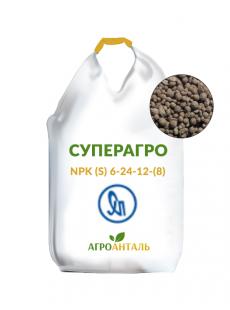 Добриво Суперагро NPK (S) 6-24-12-(8) (Україна)