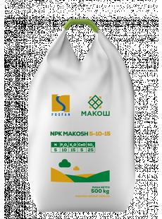 Комплексное удобрение NPK Макош 5-10-15 + 5Сa, 25S