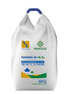 Фосфорно-калійне добриво Макош 18 PK (Ca, S) 18-18-(3-6) + B, Zn